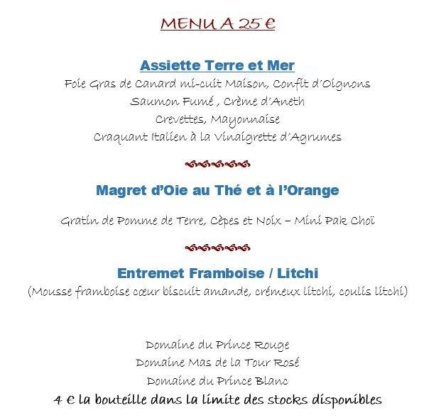 menu festif reveillon